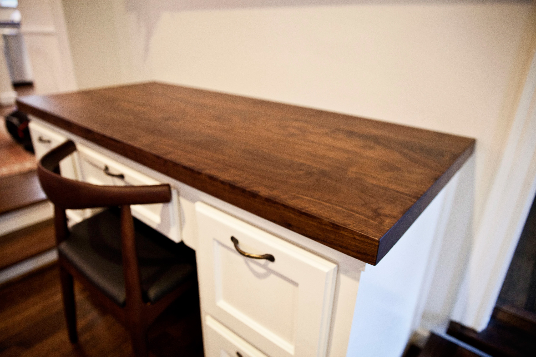 walnut kitchen island in west u install kitchen island Walnut Desk Top West University in Houston Texas
