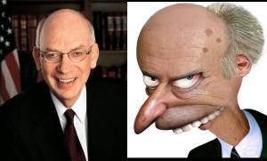 Sen. Bennett (R- UT) and Fictional Supervillain / Nuclear Power enthusiast C. Montgomery Burns
