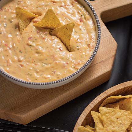 Spicy Hummus Queso Dip