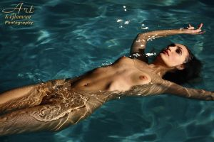 wife skinny dipping