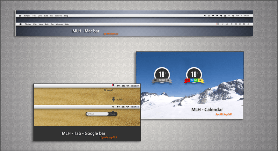 mlh 1   skins for rainmeter by mickey005 d41amga Apple Inspired Rainmeter Skins & Themes