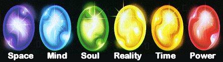 The Six Infinity Gems