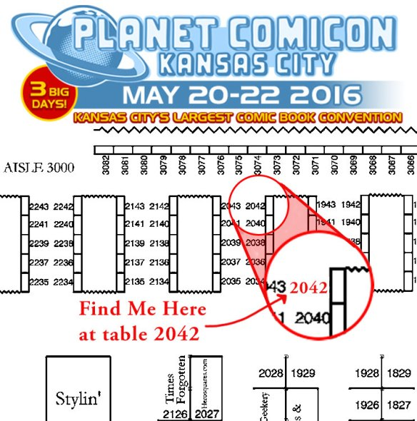 Planet Comicon 2016 Map