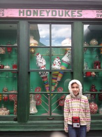 Also down the back alley, a candy shop window for pictures without the crowd.