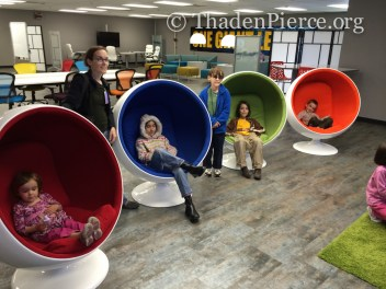 Egg chairs and Google Earth