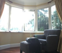 Our master bedroom window and reading chair.
