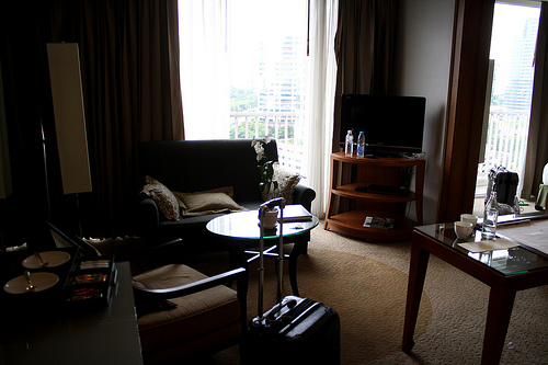 バンコクのデュシタニホテルのスイートルーム
