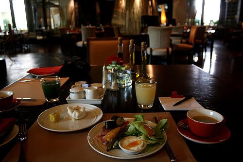 バンコクのデュシタニホテルの朝食