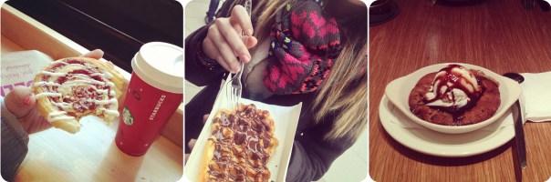 Cinnamon roll - Waffle - Warm chocolate cookie