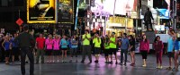 The TAR25 cast, at the starting line in Times Square (May 31). Courtesy of CBS