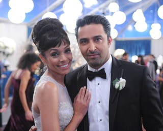 "BONES: L-R: Tamara Taylor and guest star Pej Vahdat in the ""The Final Chapter: The Day In The Life"" episode of BONES airing Tuesday, March 21 (9:00-10:00 PM ET/PT) on FOX. ©2017 Fox Broadcasting Co. Cr: Ray Mickshaw/FOX"