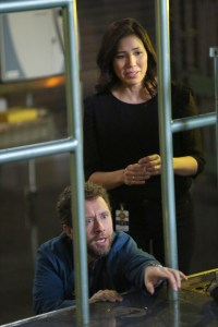 "BONES:  L-R:  TJ Thyne and Michaela Conlin in the ""The Final Chapter:  The Day In The Life"" episode of BONES airing Tuesday, March 21 (9:00-10:00 PM ET/PT) on FOX.  ©2017 Fox Broadcasting Co.  Cr:  Ray Mickshaw/FOX"