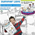 Summer Lists - Storybook Lesson (with Printables!)