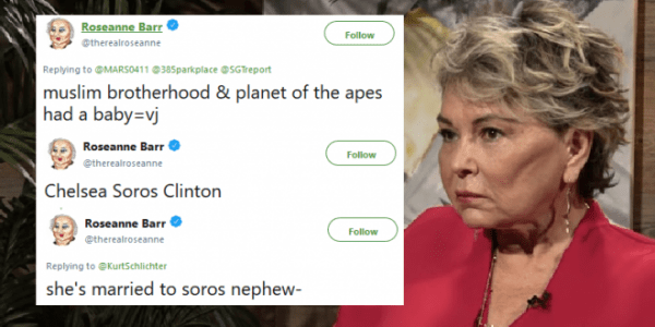 Roseanne Brands Obama Aide An  Ape    Flees Twitter After Racist     Attempting a clean up  Barr snatched the tweet and issued another set  apologizing
