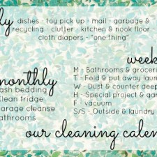 cleaning+calendar
