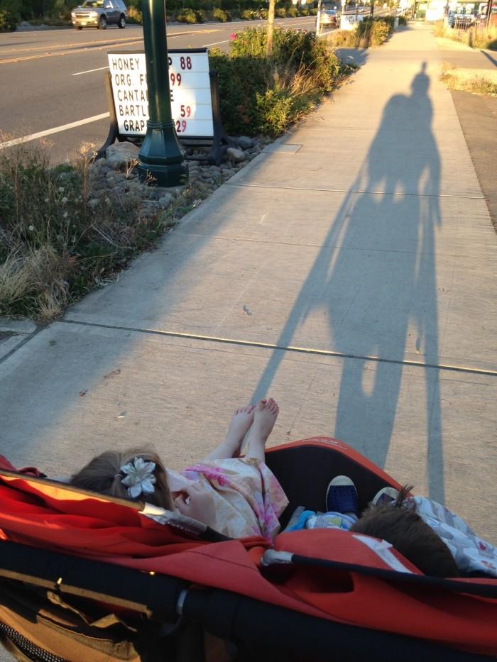 stroller shadow