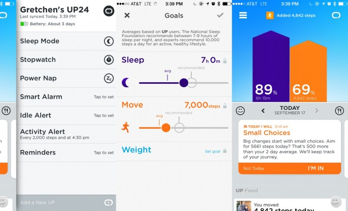 jawbone screenshot