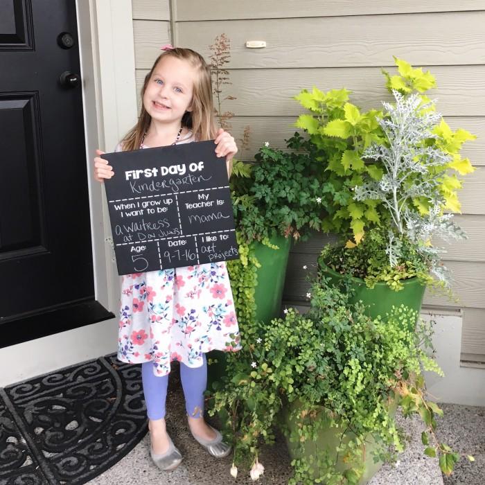 kindergarten first day