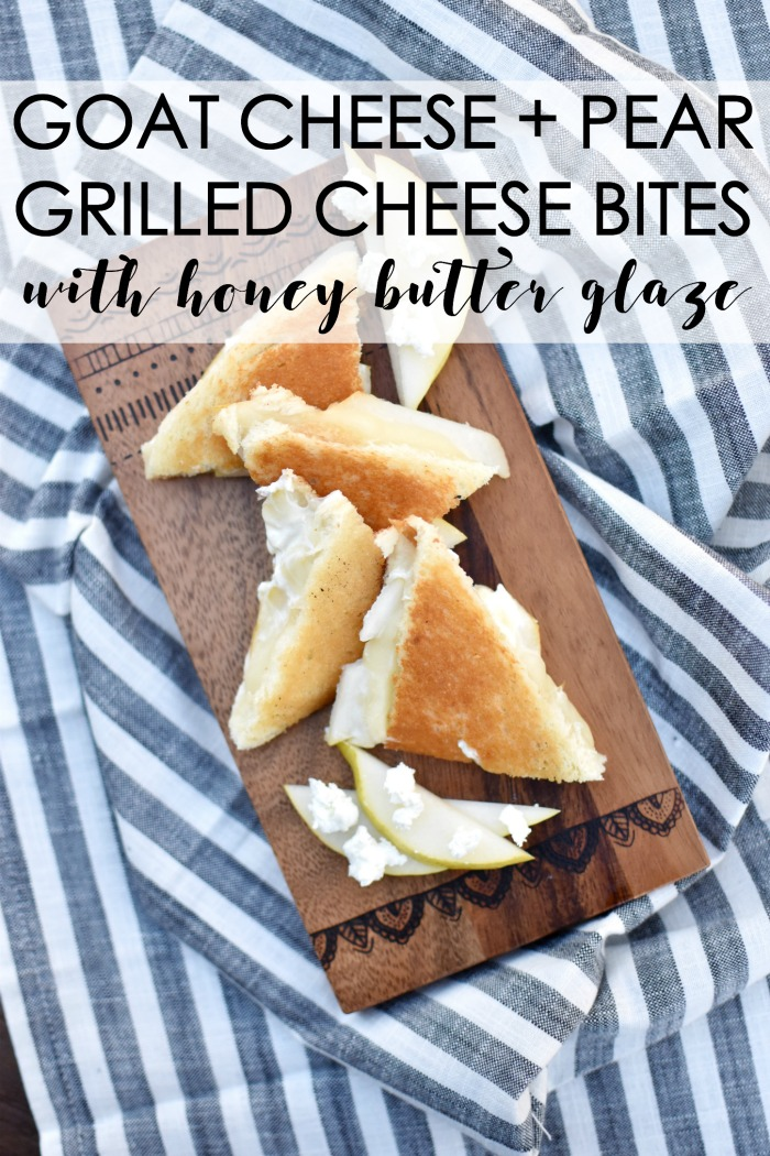 Goat Cheese + Pear Grilled Cheese Bites