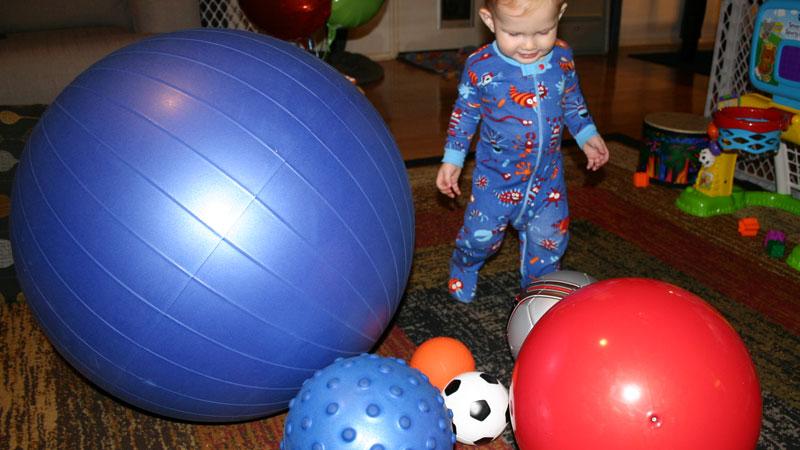 The boy has balls...