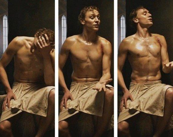 Shirtless Tom Hiddleston strips off in The Night Manager