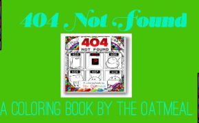 404 Not Found Coloring Book Feature