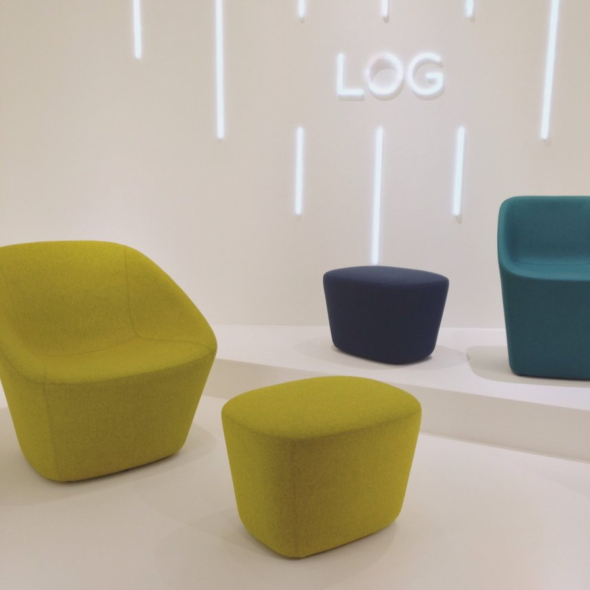 LOG 365, colourful seating by Pedrali.