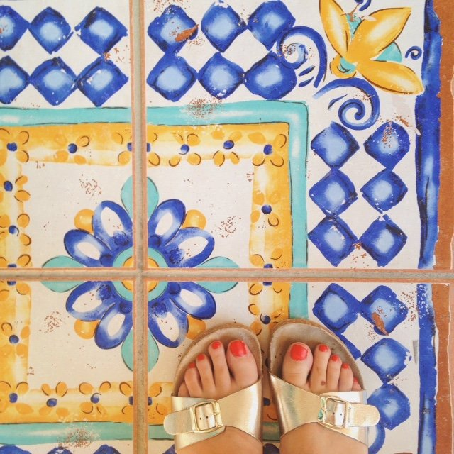 Beautiful & colourful floor tiles