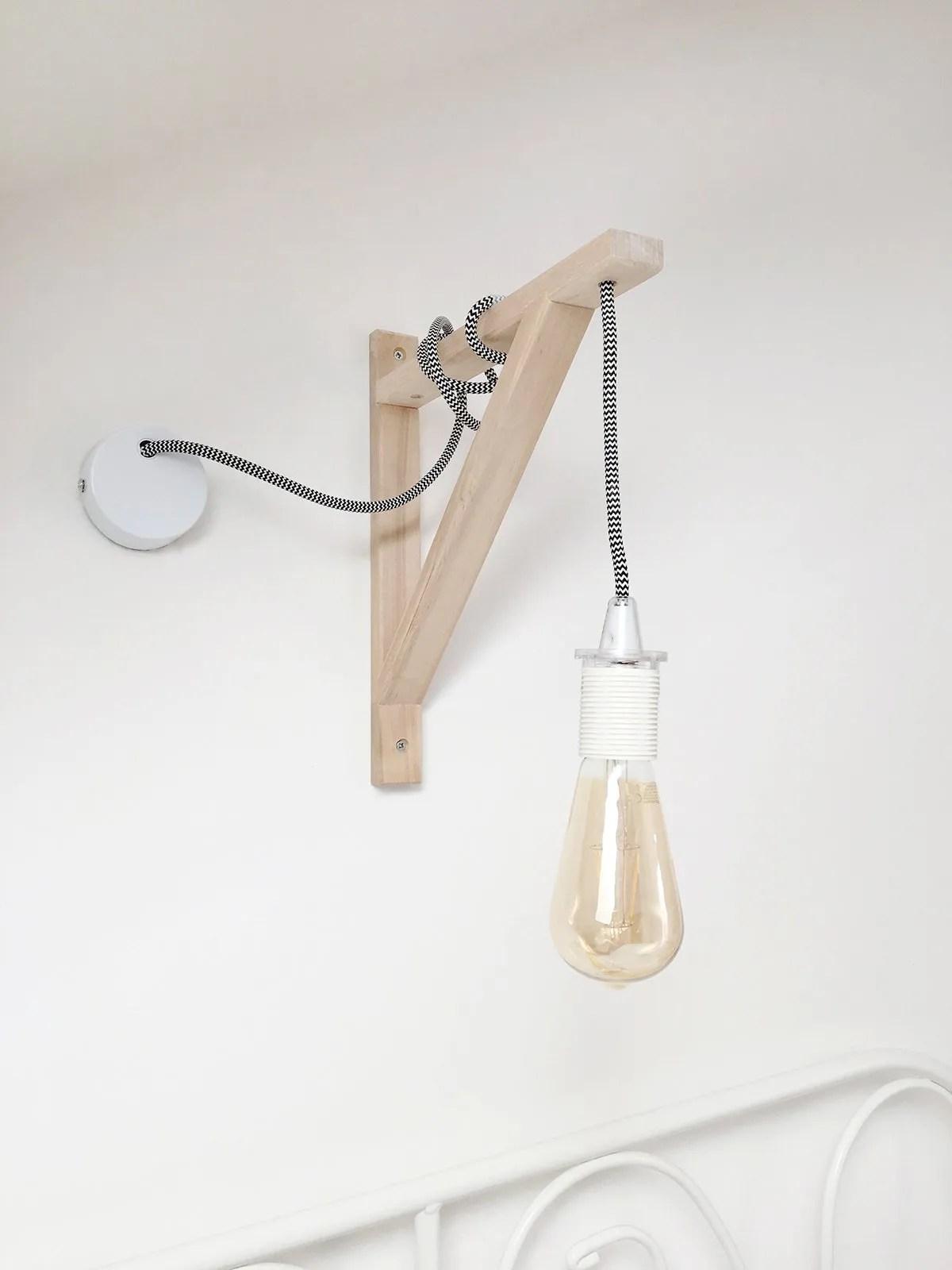 DIY // WALL LAMP WITH HANGING LIGHTBULB