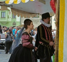 Costumed Couple at 5 Petalled Rose Festival 2013