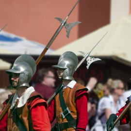 soldiers with axes