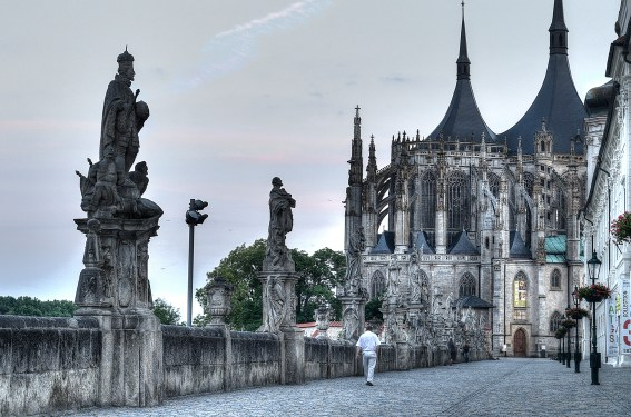 bridge to cathedral in Kutna Hora, Czech Republic