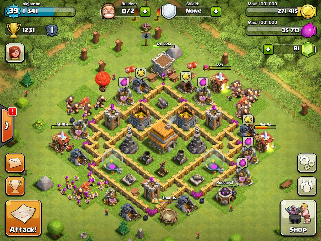 Clash of clans Town Hall 6 Trophy Base - 3