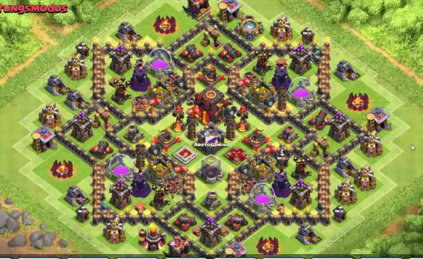 Best Clash Of Clans Town Hall Level 10 Defense Base Design 1