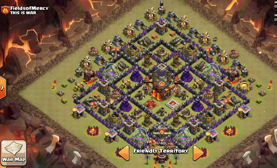 Best Clash Of Clans Town Hall Level 10 Defense Base Design 5