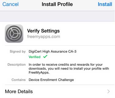 FreeMyApps Verify-Settiing- Thats My Top 10