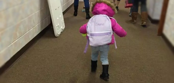 Her First Day of Pre-school: Through Mommy's Eyes