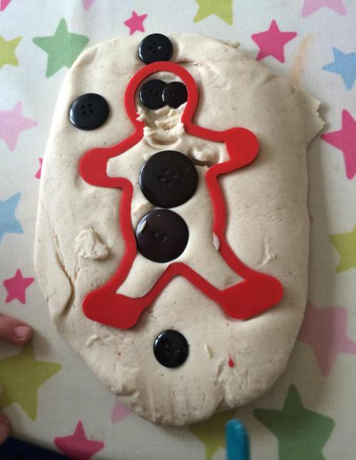 gingerbread man playdough