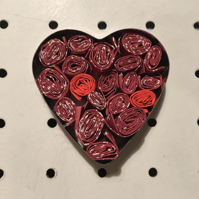 coiled paper heart