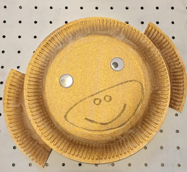 Chinese New Year paper plate monkey