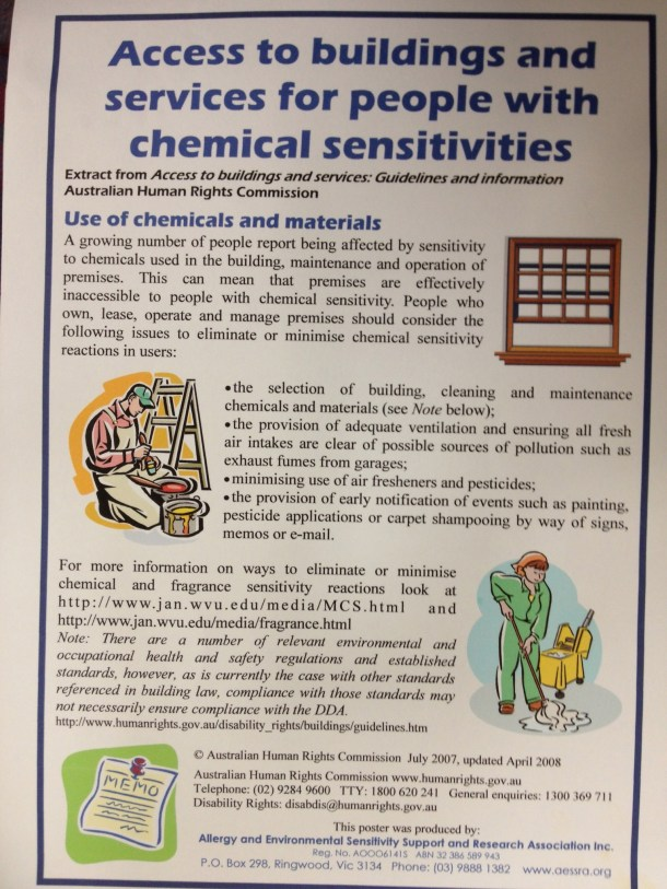 Access to Buildings and Services for People with Chemical Sensitivities