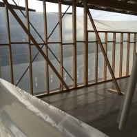 This is a photo of the interior using Plastic wrap used on Exterior of Build and Allergy-Free, Eco-Friendly House Project