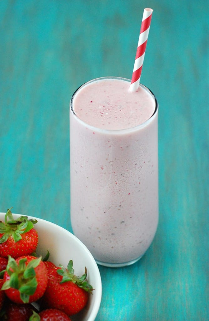 Strawberry Cheesecake Smoothie - A delicious strawberry smoothie you can whip together in just a few minutes!
