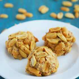 Peanut Butter Balls - nutritious, delicious and make for a perfect breakfast or dessert.
