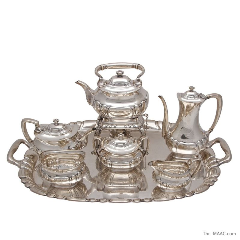 Large Of Silver Tea Set
