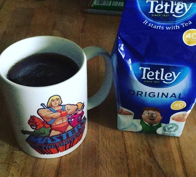 Very British Tea. Ob das beim Abschlag helfen wird werden wir noch sehen.