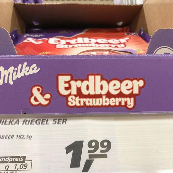 Erdbeer & Strawberry? Vielleicht demnächst noch Fresa?