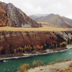 Времена года: величественный Алтай весной, летом, осенью и зимой