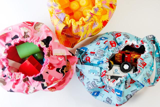 Сумка для игрушек из ткани