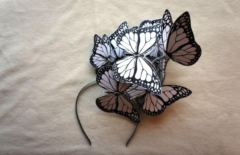 Мастер-класс: делаем ободок с бабочками